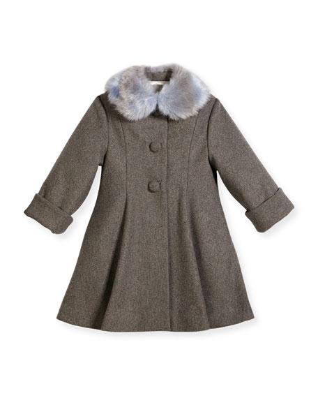 Floral Topper Coat, Size 2-6