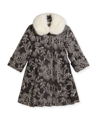 Kid's Faux-Fur Snood, White  and Matching Items