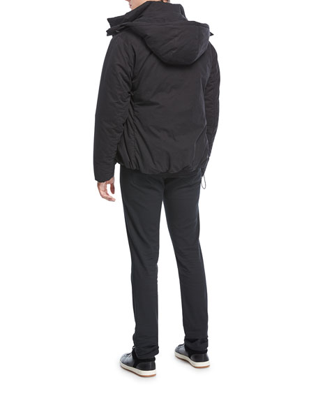Down Zip-Front Parka