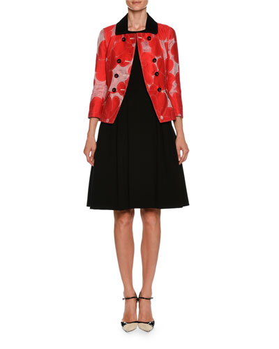 Double-Breasted Floral-Jacquard Cotton-Silk Jacket and Matching Items