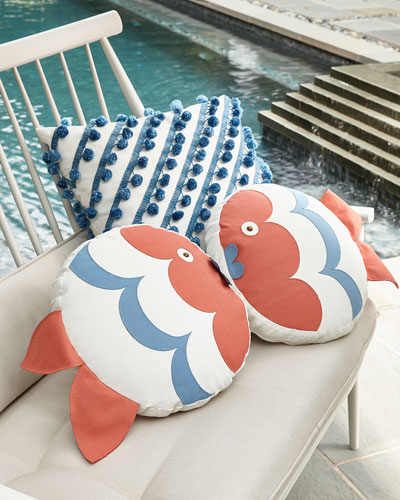 Celerie Kemble Kissing Fish Tambourine Right Pillow  and Matching Items