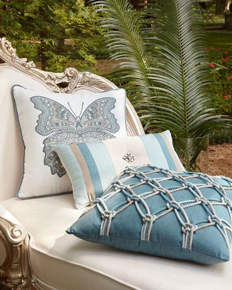 "Mariposa Lagoon Pillow, 20""Sq."