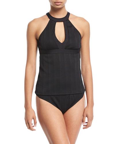 Fine Line Halter Tankini Swim Top and Matching Items
