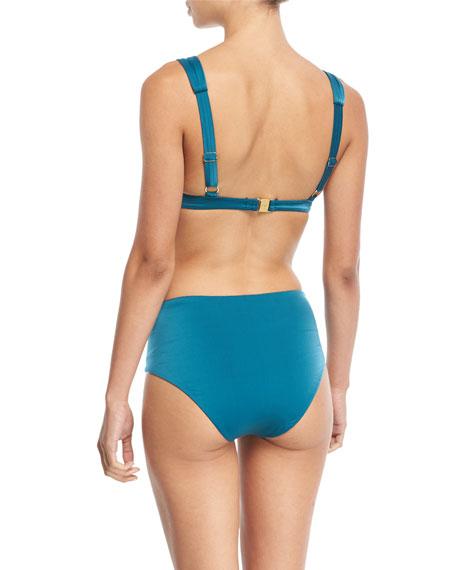 Wide-Strap Solid Swim Top
