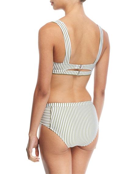 Picturesque Striped Triangle Swim Top