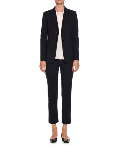 Straight-Leg Ankle Wool Pants and Matching Items