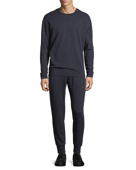 Side Zip Crewneck Sweater, New Coastal