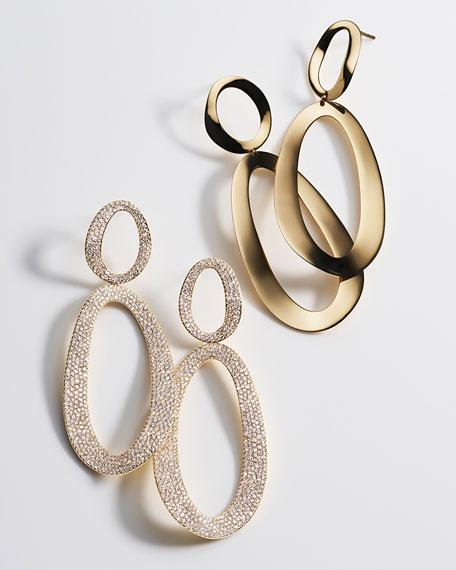 Ippolita Cherish 18K Gold Large Snowman Earrings 1l5yK