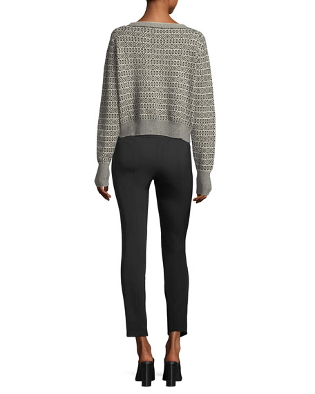 Boat-Neck Jacquard Cashmere Sweater