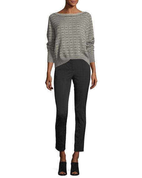 Boat-Neck Jacquard Cashmere Sweater