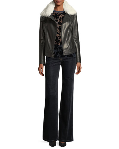 Demitria 2 Flared-Leg Velvet Denim Jeans and Matching Items