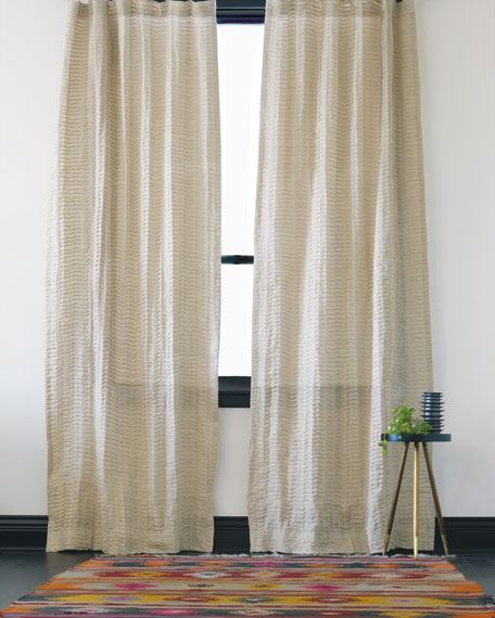 "Yearling Flax Pinch Pleat Curtain Panel, 96""L"