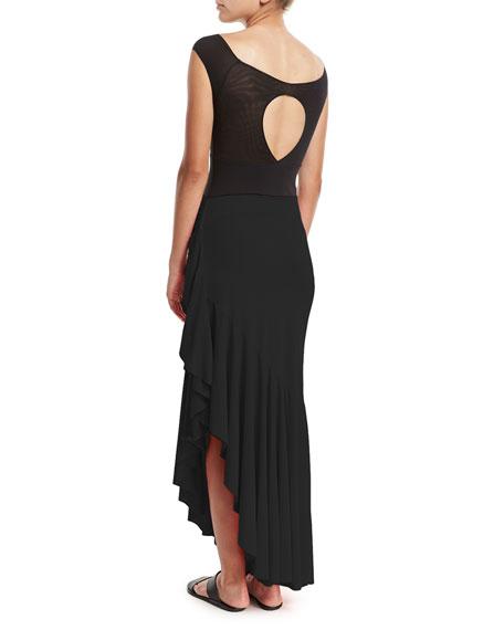 Josephine Ruffled-Hem Coverup Skirt