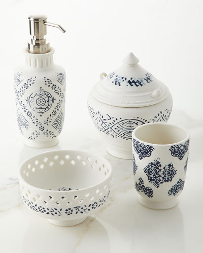 Lakki Porcelain Tumbler, Blue and Matching Items