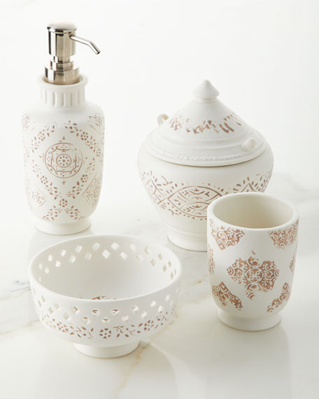 Lakki Porcelain Lotion Pump, Taupe