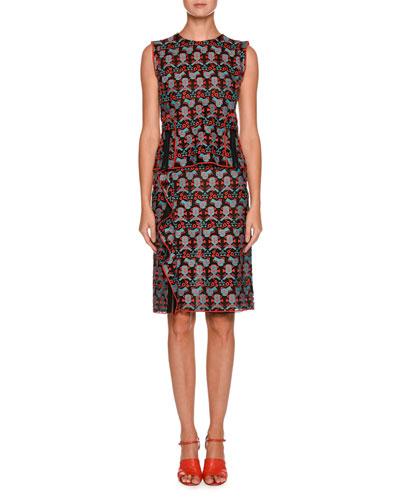 Side-Ruffle Jacquard Straight Skirt and Matching Items