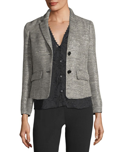 Two-Button Tweed Jacket and Matching Items