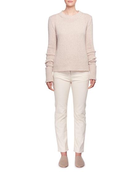Gibet Crewneck Long-Sleeve Cashmere Sweater