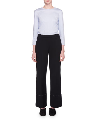 Alisei Wide-Leg Mid-Rise Crepe Pants and Matching Items