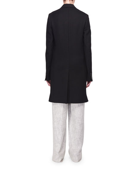 Hester High-Waist Wide-Leg Fluid Tweed Pants