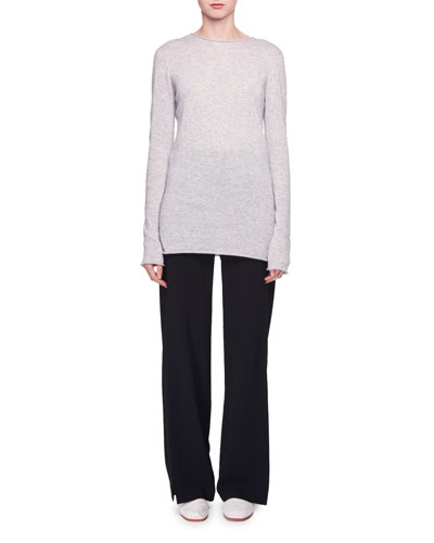 Nolita Crewneck Long-Sleeve Cashmere-Silk Sweater and Matching Items