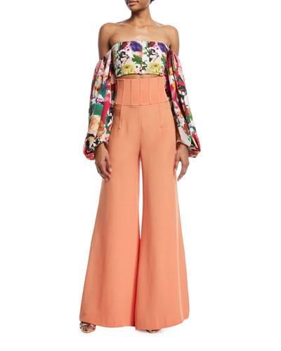 Jade High-Waist Wide-Leg Pants and Matching Items