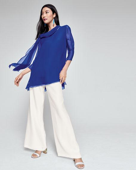 Silk Chiffon Combo Tunic, Plus Size