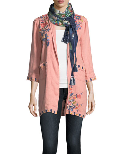 Midleton Silk Printed Scarf and Matching Items