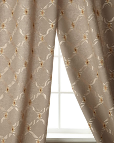 "Brilliant Linen/Cotton Drape, 108""L"