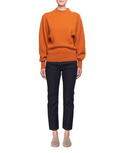 Nix Long-Sleeve Crewneck Cashmere Pullover Sweater and Matching Items