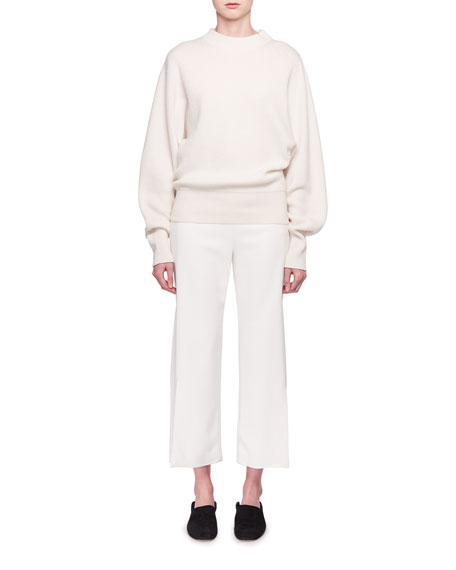 Nix Long-Sleeve Crewneck Cashmere Pullover Sweater