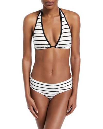 stinson beach striped halter bikini swim top and Matching Items