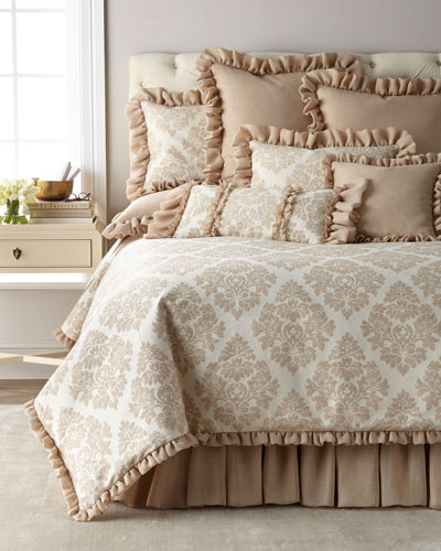 Odette Ruffle Queen Duvet  and Matching Items