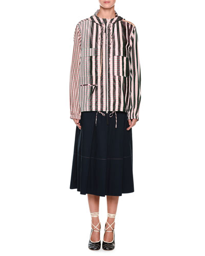 A-Line Mid-Calf Cotton Woven Skirt and Matching Items