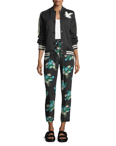 Tulip-Print Silk Crepe Pants  and Matching Items