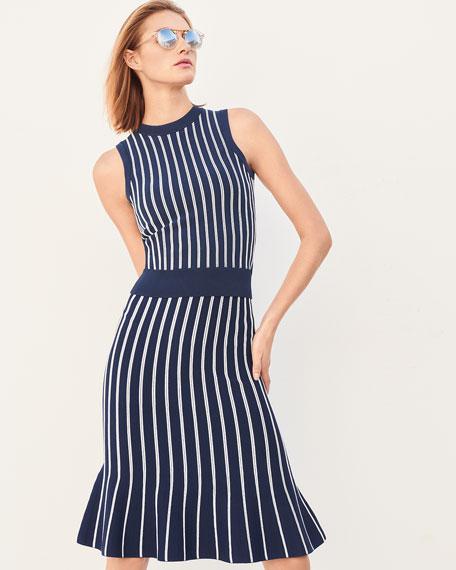 Vertical Striped Sleeveless Top