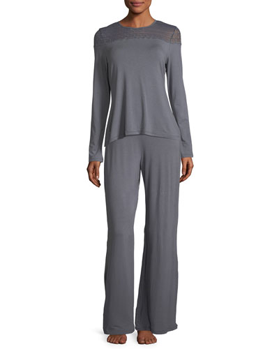 Sweet Dreams Lace-Trim Lounge Pants and Matching Items