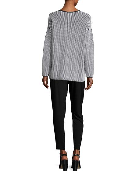 Slim Slouchy Ankle Pants, Black, Plus Size