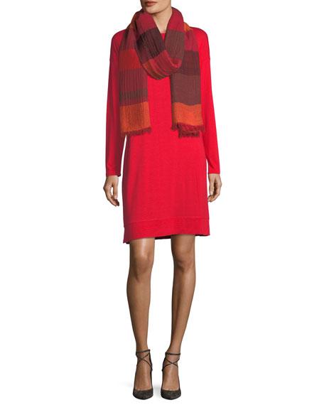 Lightweight Jersey Knee-Length Dress, Plus Size