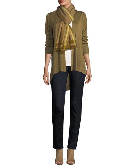 Sleek Knit Open-Front Cardigan