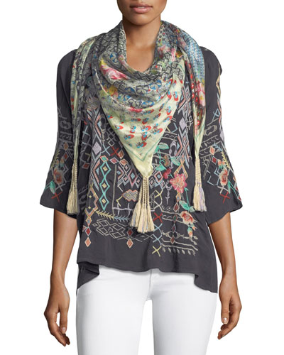 Puzzle Silk Georgette Scarf and Matching Items