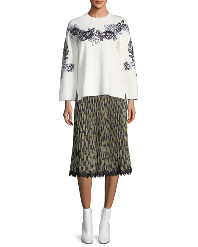 Viola Pleated Paisley-Print Skirt and Matching Items
