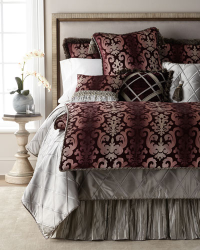 Aubergine Velvet Pillow with Tassels  and Matching Items
