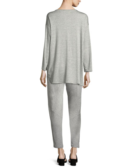 Terry Stretch Long-Sleeve Top, Petite