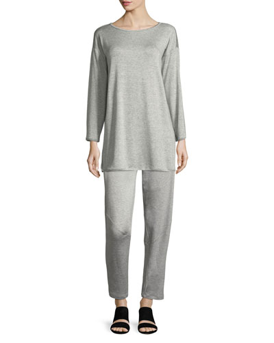 Terry Stretch Long-Sleeve Top and Matching Items