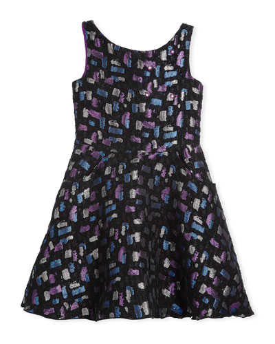 Confetti Night Sleeveless Metallic Dress, Size 4-6X and Matching Items