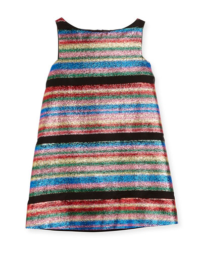 Multi-Stripe Illusion Lurex® Shift Dress, Size 4-7 and Matching Items