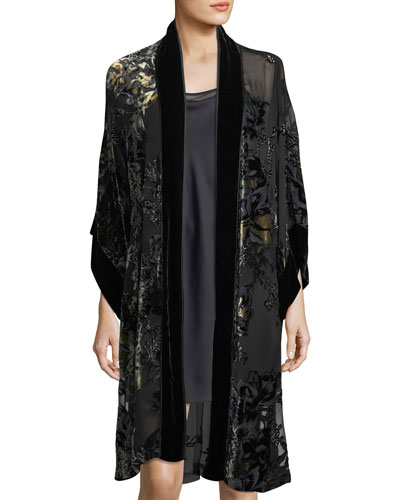 Luna Velvet-Burnout Robe and Matching Items