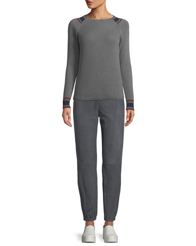 Girocollo Crewneck Rib-Knit Pullover Cashmere Sweater and Matching Items
