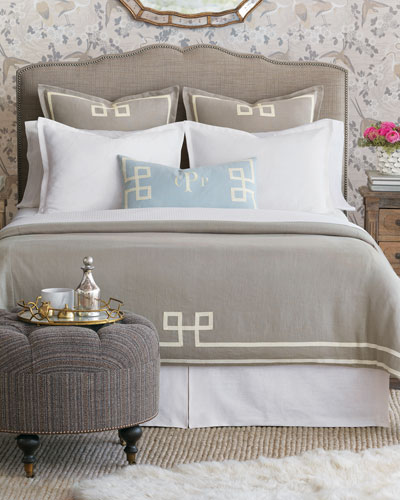 Eastern Accents Resort Fret Oversized King Duvet Queen European Sham